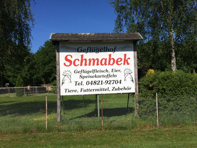 Geflügelhof Schmabek Einfahrt 2